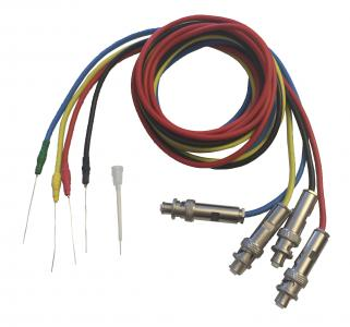 EC230 High Voltage Cables, SHV to Bare Platinum Wire