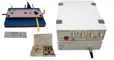 ER455 Microchip Electrophoresis bundle for lab-on-a-chip with C4D contactless conductivity detection, electro-osmotic flow EOF