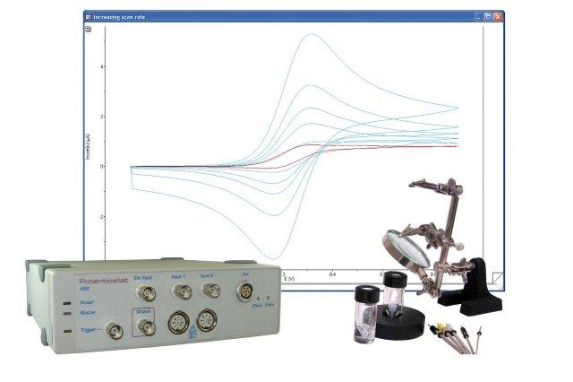 ER461 EChem Startup System potentiostat for electrochemistry and cyclic voltammetry, voltammetric electrodes